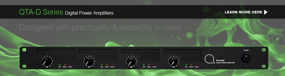 QTA-D Series Digital Power Amplifiers: Learn More