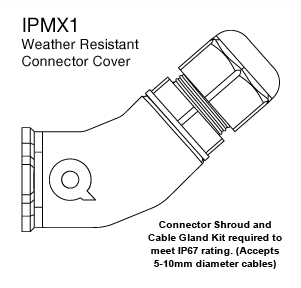 QUEST IPMX1 WEATHER RESISTANT CABLE COVER IP67 -SUITS BLACK
